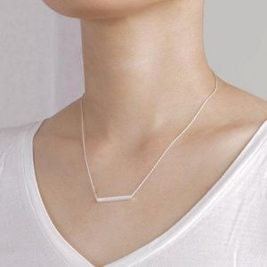 Jewelry - Dainty Silver Bar Necklace